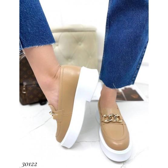 Туфли лоферы  с цепочкой