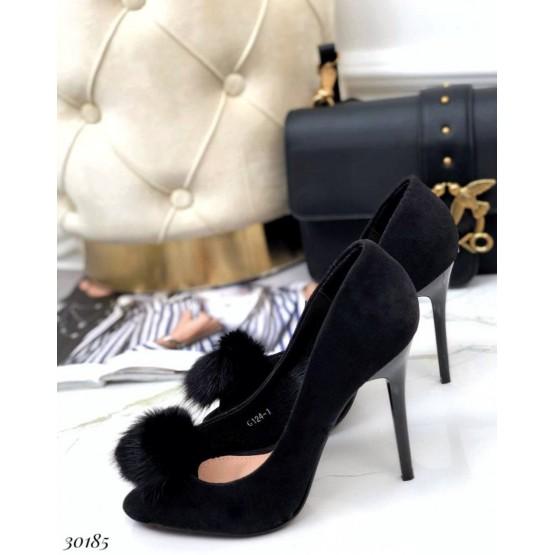 Туфли на высоком каблуке с открытым носком