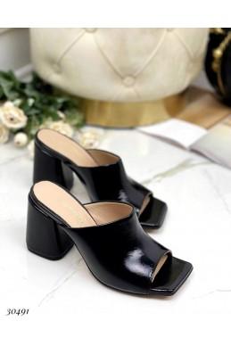 Шлепанцы на широком каблуке Nina_mi