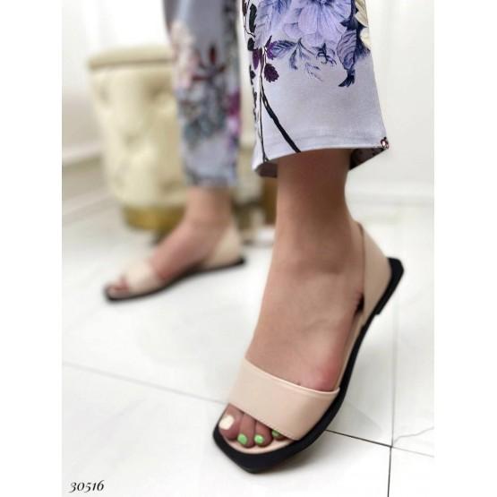 Балетки с открытым носком