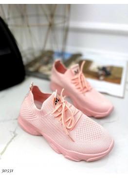 Текстильные кроссовки на шнурках