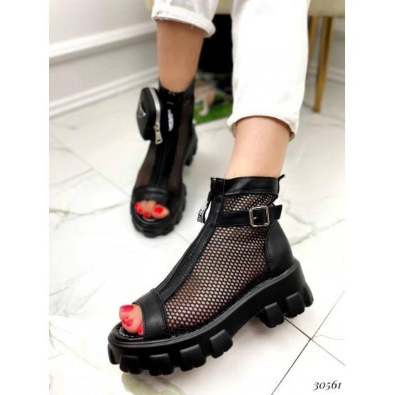 Ботинки сетка, молния спереди