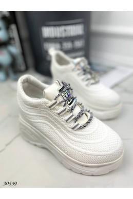 Сникерсы текстильные на шнурках