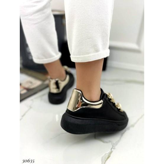 Кеды на дутой подошве шнурки цепь