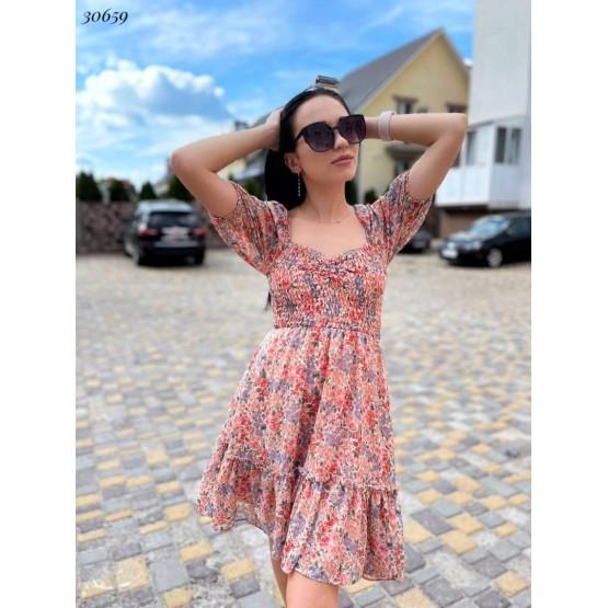 Платье шифоновое,цветочный принт