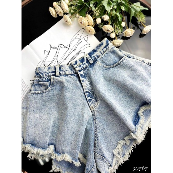 Джинсовые шорты-юбка клеш