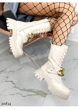 Ботинки цепи на шнурке и змейке.