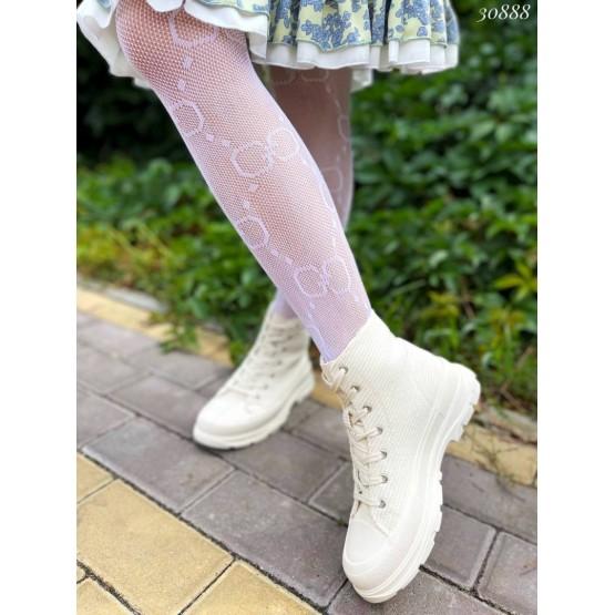 Кеды  высокие с резиновым носком