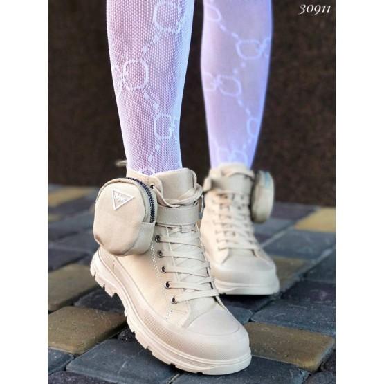 Кеды высокие с резиновым носком и мини-сумочкой