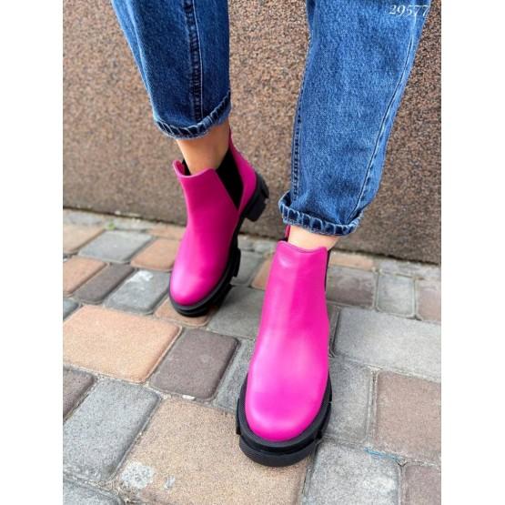 Ботинки челси без молнии NINA_MI на тракторной подошве