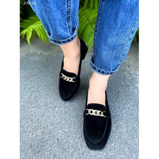 Туфли лоферы с цепями