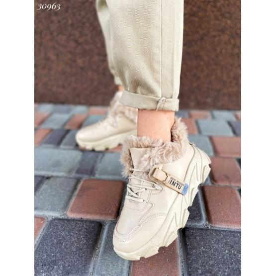 Кроссовки с мехом демисезонные
