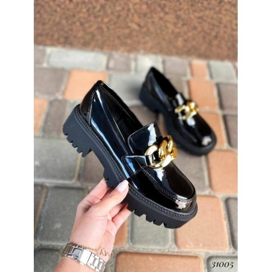 Туфли на тракторной подошве с цепями
