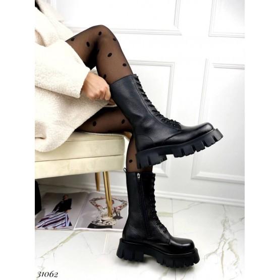 Кожаные ботинки берцы Nina Mi