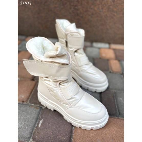 Ботинки зимние на липучках