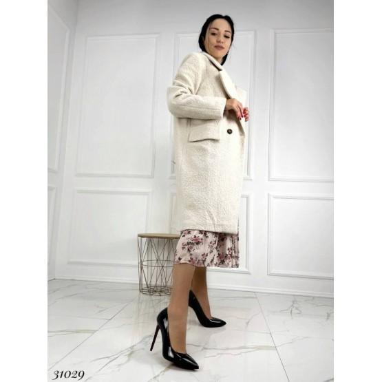 Пальто с имитацией овчины