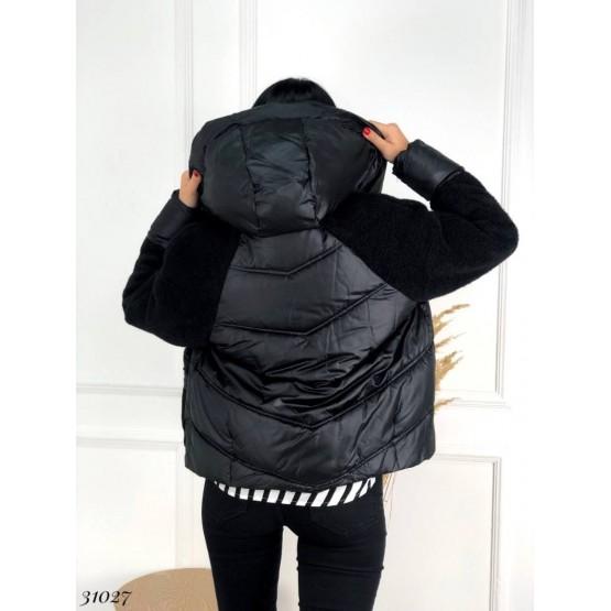 Куртка с текстильными вставками