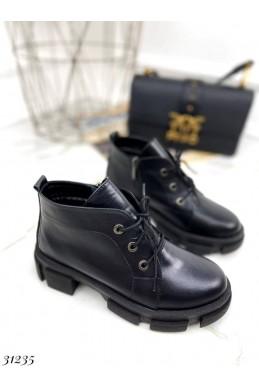 Ботинки - туфли короткие на шнуровке