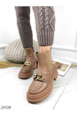 Ботинки челси цепь.