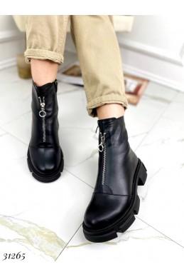 Ботинки зимние спереди на молнии