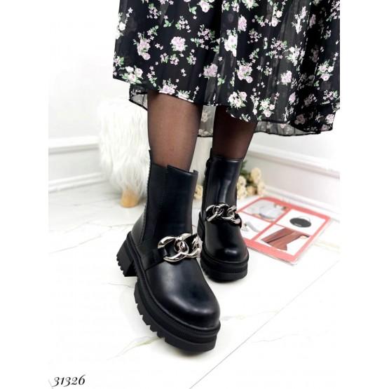 Ботинки зимние на резинке,с цепью