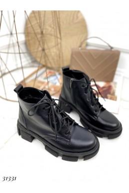 Ботинки демисезон на шнуровке короткие