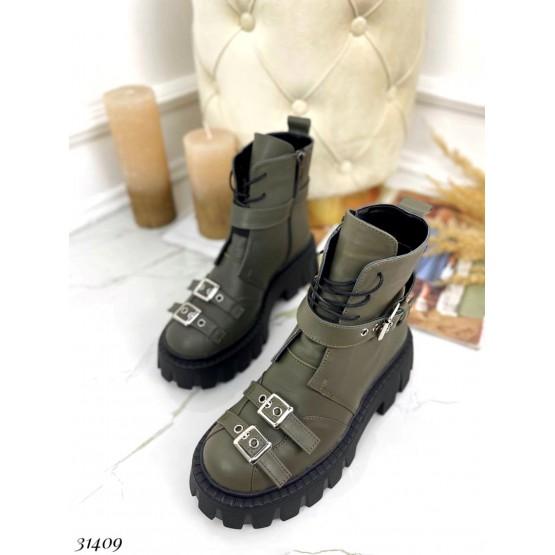 Ботинки зимние  шнуровка на тракторной подошве