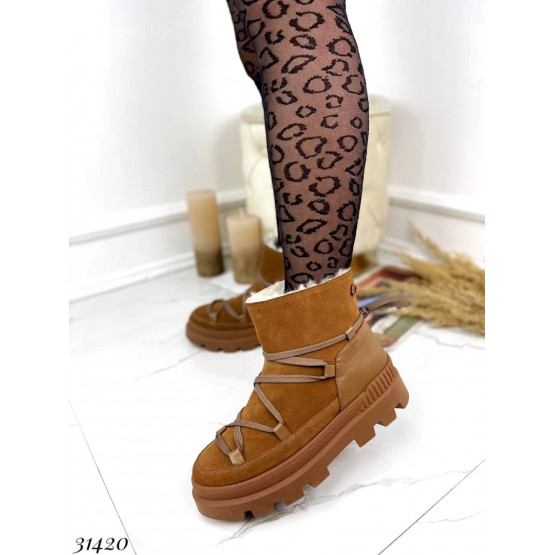 Зимние ботинки на шнуровке Nina Mi