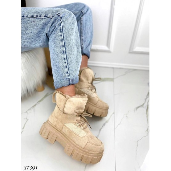 Ботинки зимние на шнуровке