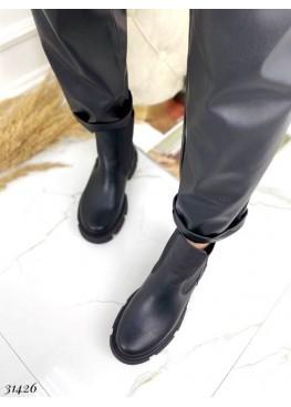 Ботинки челси зимние на тракторной подошве