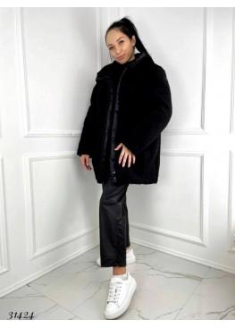 Пальто шубка с эко меха