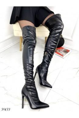 Ботфорты чулки с узким носком